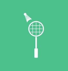 Icon on background kids badminton vector