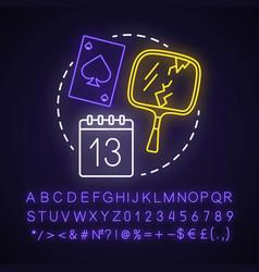 Jinx neon light concept icon magic vector