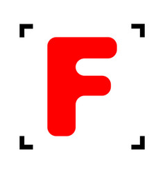 letter f sign design template element red vector image