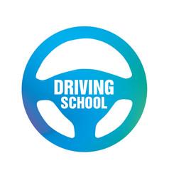 logo of driving school car and mechanic vector image