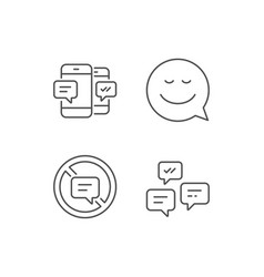 Message smile speech bubble and communication vector