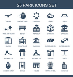 park icons vector image