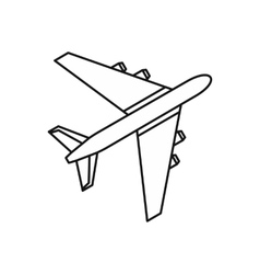 Passenger airliner icon outline style vector image