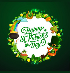 Patricks day holiday signs irish spring symbols vector