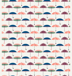 pattern with a set of textured flat umbrellas vector image