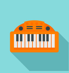piano toy icon flat style vector image