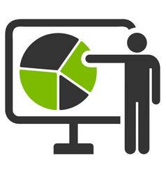 Pie chart public report flat icon vector