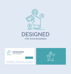 Ppc click pay payment web business logo line icon vector