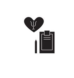 Psychotherapy black concept icon vector
