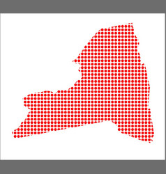 Red dot map of new york state vector