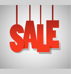 red text sale on gray background vector image