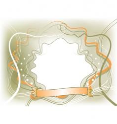 Romantic frame vector