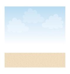 Sand desert background vector image