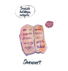 shawuot watercolor hand drawn vector image