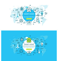 Smart home and house automation devices vector