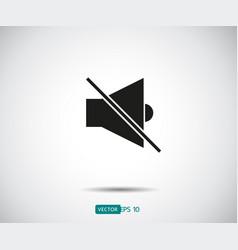 speaker mute sound icon 10 eps logo vector image