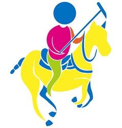 Sport icon for polo vector