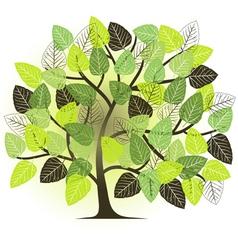 Spring garden - abstract tree vector