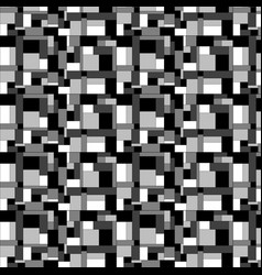 squares and rectangles pattern in shades black vector image