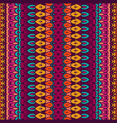 striped abstract geometric ethnic seamless pattern vector image