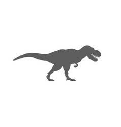 T-rex silhouette isolated on white background vector
