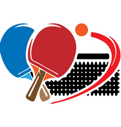 Tabletennis icon on white background vector