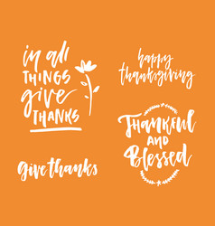 thanks giving collection vector image
