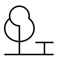 tree and bench line icons 48x48 simple minimal vector image