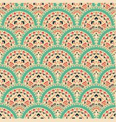 tribal art seamless pattern ethnic geometric vector image