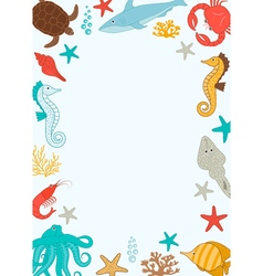 Under The Sea Card vector