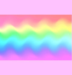 unicorn rainbow wave background mermaid galaxy vector image