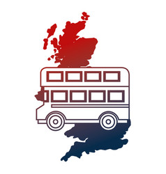 united kingdom map double deck bus vector image