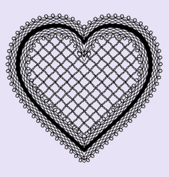 Vintage lace heart frame feminine luxury element vector