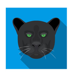 black panther icon in flat style isolated on white vector image