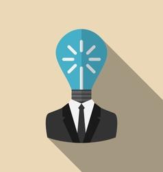 Concept lamp of new idea vector