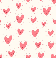 Doodle hearts pattern vector image vector image