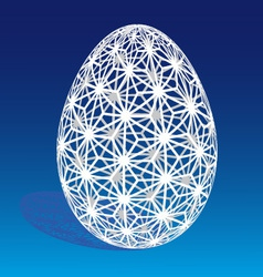 Easter egg with 3D pattern vector image vector image