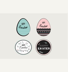 easter elements with decorated egg and floral vector image vector image