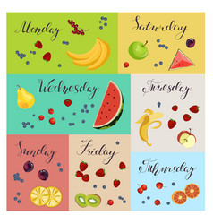 fresh healthy food vector image