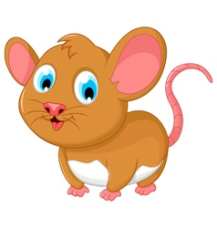 funny fat mouse cartoon posing vector image