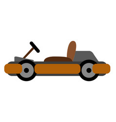 isolated racing car kart vector image