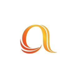 Letter A logo design template vector image vector image