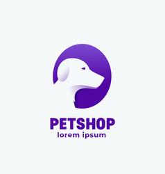 petshop abstract sign emblem icon or logo vector image