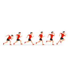running man in different positions vector image