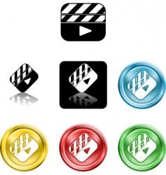 film clapper boards vector image vector image