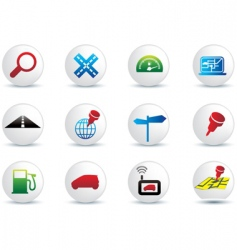 navigation buttons vector image vector image
