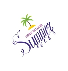 Tropical Summer holiday background vector image vector image