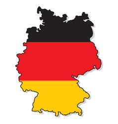 Germany map3 vector image