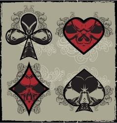 Suits Skulls vector image