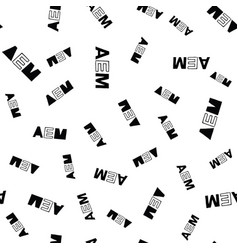 aem seamless pattern lettering vector image